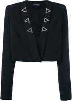 David Koma cropped open jacket - women - Elastodiene/Acetate/Viscose - 12