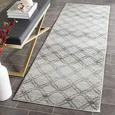 """Safavieh Adirondack Collection ADR105P Silver and Charcoal Modern Distressed Trellis Runner (2'6"""" x 8')"""