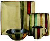 Sango Vertigo Black 16-pc. Square Dinnerware Set