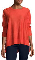 Eileen Fisher Long-Sleeve Alpaca Box Top, Plus Size