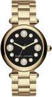 marc jacobs womens dotty goldtone stainless steel bracelet watch 34mm mj3486