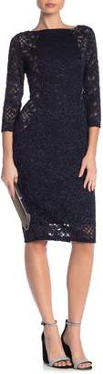 Marina Sparkly Lace Midi Sheath Dress