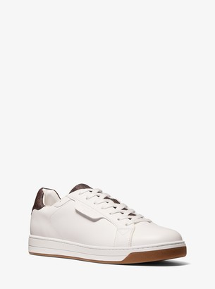 Michael Kors Keating Leather and Logo Sneaker