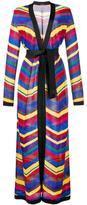 Balmain chevron long cardigan