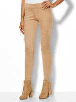 New York & Co. Soho Jeans - Faux-Suede Pull-On Legging - Camel