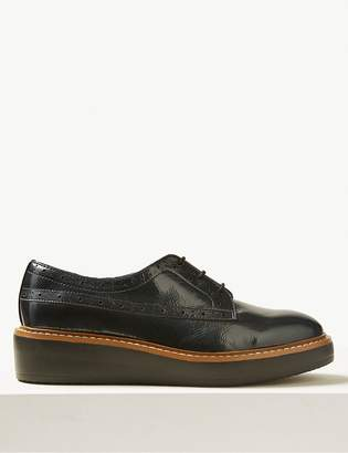M&S CollectionMarks and Spencer Leather Flatform Brogue Shoes