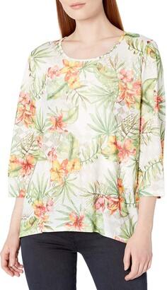 Alfred Dunner Women's Floral Print tee Shirt