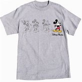 Disney Mickey Mouse Adult Unisex T Shirt 3 Mickey Sketch Embroidered Mickey (, Sports Grey)