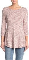 Bobeau Space Dye Babydoll Tunic Sweater