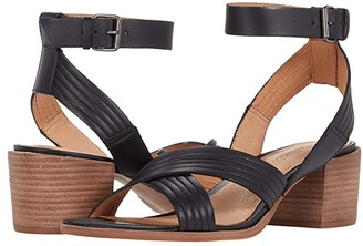 Madewell Olson Multi Strap Heeled Ankle Strap Sandal (True Black) Women's Shoes
