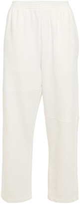 MM6 MAISON MARGIELA Cropped French Cotton-blend Terry Track Pants