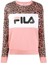 Fila animal-print branded sweatshirt