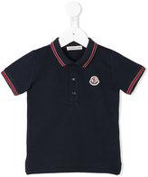 Moncler embroidered logo polo shirt - kids - Cotton/Spandex/Elastane - 6-9 mth