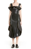 Awake Women's Backless Faux Leather Dress