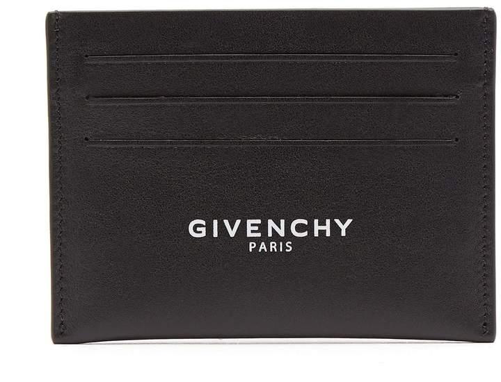 Givenchy Logo-print leather cardholder