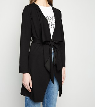 New Look Long Sleeve Belted Waterfall Jacket