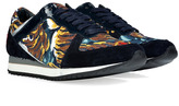 Kenzo Snax Sneakers in Crosta Navy/Silver