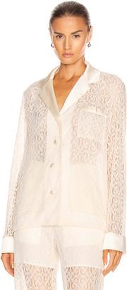 Jonathan Simkhai Janice Mixing Lace Shirt in Ecru | FWRD