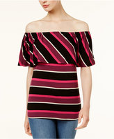Kensie Striped Off-The-Shoulder Top