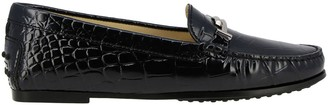 Tod's Tods Loafers City Double T Tods Loafers In Crocodile Print Leather