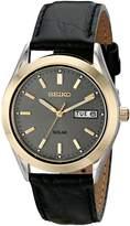 Seiko Men's Solar Strap Charcoal Dial Watch SNE050