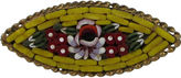 One Kings Lane Vintage Yellow Floral Pietra Dura Brooch