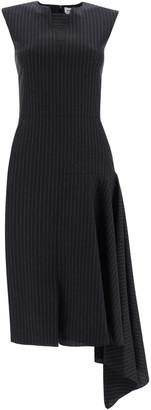 Alexander McQueen Draped Pinstripe Dress