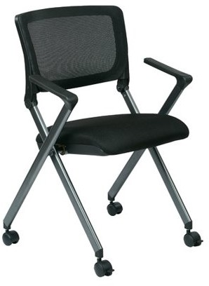 Office Star Work Smart By Products Folding Chair with Screen Back