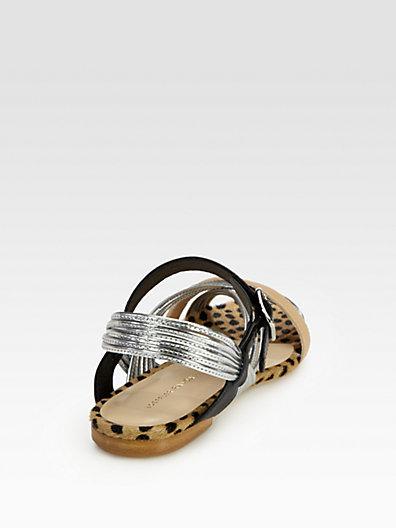 Loeffler Randall Lolly Mignon Mixed Media Sandals