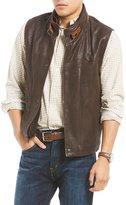 Daniel Cremieux Double-Collar Leather Vest
