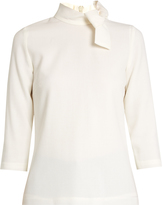 Goat Blaire decorative-bow wool-crepe top