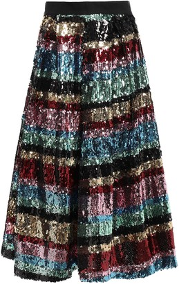 Ainea Flared Sequined Woven Skirt