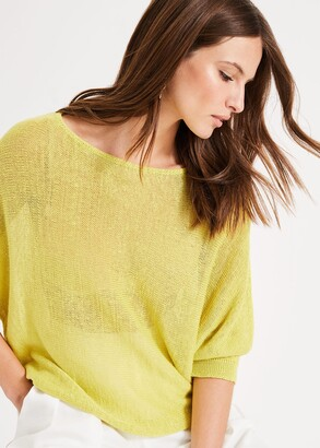 Phase Eight Delmi Linen Knit Top