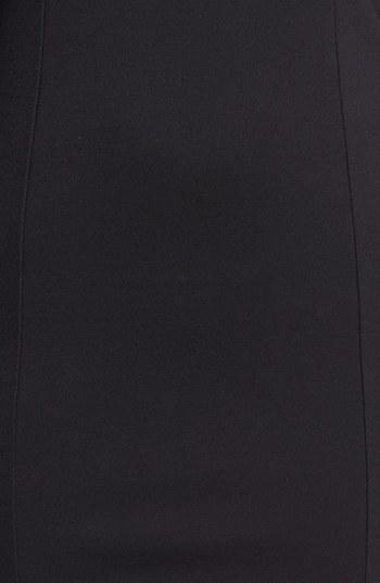 BB Dakota 'Mai' Faux Leather Yoke Ponte Sheath Dress