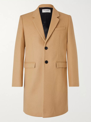 Saint Laurent Slim-Fit Wool Overcoat - Men - Brown
