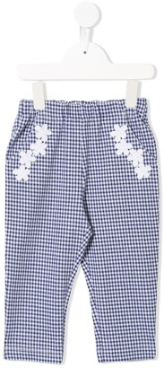 Familiar elasticated gingham check trousers
