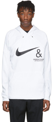 Nike White and Black Undercover Edition NRG Pullover Hoodie