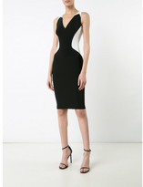 Thierry Mugler contrast sweetheart neck dress