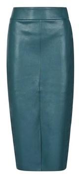 Dorothy Perkins Womens **Tall Green Pu Midi Skirt, Green