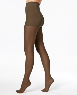 Hanes Women's Perfect Nudes Run Resistant Girl-Short Tummy-Control Micro Net Pantyhose Sheers
