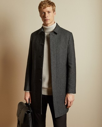 Ted Baker HOLOW Checked wool blend coat
