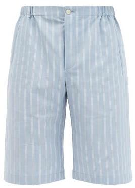 Gucci Pinstriped Canvas Shorts - Blue