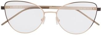 HUGO BOSS Cat-Eye Full-Rimmed Frame Eyeglasses