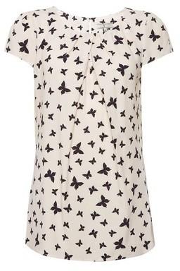 Dorothy Perkins Womens **Billie & Blossom Tall Blush Butterfly Print Shell Top
