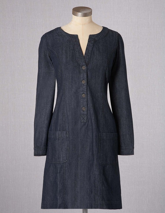 Boden Denim Shirt Dress