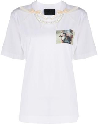 Simone Rocha lamb print T-shirt