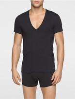 Calvin Klein Cotton Classic Fit 2-Pack Deep V-Neck T-Shirt
