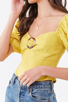 Forever 21 Tortoiseshell O-Ring Top