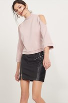 Dynamite Soft Cold Shoulder Sweatshirt
