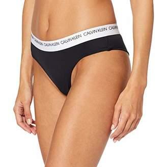 Calvin Klein Women's Brazilian Hipster Bikini Bottoms, Pvh Black 094, One (Size: X-Small)